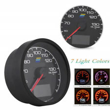 7 Color Oil Temperature Gauge W/ Voltage Meter Car Gauge 2.5 Inch(62mm) DC 12V