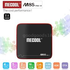 MECOOL M8S PRO W Android 7.1 TV Box Amlogic Quad Core 4K UHD 3D WiFi 2G+16G Q0W0
