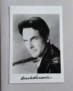 hand signed Mark Harmon B&W photo autographed 5 x 7 authentic actor NCIS