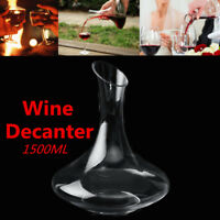 1.5L Luxuriou Crystal Glass Lead-free Wine Decanter Carafe Wine Pourer Bottle