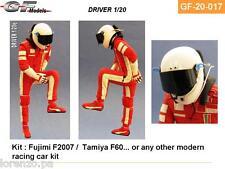PILOTA F1 DRIVER PLASTIC KIT KIMI RAIKKONEN 1/20 GF MODELS 20017