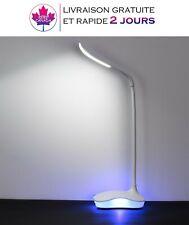 Lampe de bureau LED à intensité variable,3 niveaux de luminosité,rechargable USB