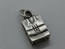 RETIRED James Avery Shopping Bag Charm Sterling Silver FREE SHIPPING