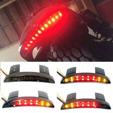 Motorcycle Chopper Bobber 12v Rear Smoke LED L&R Turn Signals Brake Tail Light M