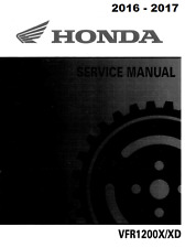 2016 2017 Honda VFR 1200X VFR1200X VFR1200XD service manual on CD
