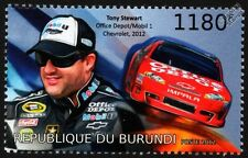 Tony Stewart & #14 CHEVROLET IMPALA Chevy NASCAR Race / Racing Car Stamp (2012)