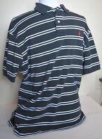 Men's POLO BY RALPH LAUREN Black White Polo Shirt Short Sleeve Size Large L