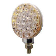 21 LED Single Face Turn Signal Light - Red LED w/ Clear Lens   Semi Truck Fender