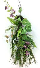 "Cottage Garden Flower Moss Twig Loop Wall Decor. 24"" H. Artificial"