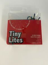 Tiny Lites 20 Lights Set Multi Color Bulbs Rice Style Lights Battery Op
