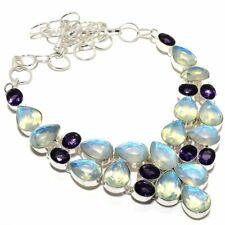 """Aqua Mystic Topaz, Amethyst Gemstone 925 Silver Jewelry Necklace 18"""" AQ-1856"""