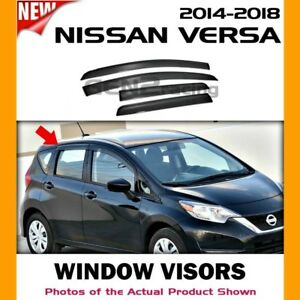 WINDOW VISORS for Nissan 2014 → 2019 Versa Note / DEFLECTOR RAIN GUARD VENT
