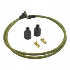 Vintage Rajah Green w/ Yellow 7mm Cloth Spark Plug Wire Sets harley sportster