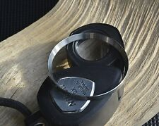 BRUSHED ST.STEEL MOD./CUSTOM CHAPTER RING W.PIN STABILIZER F. SKX007 7S26 R-01-B