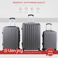 3Pcs Luggage Travel Set Bag Trolley Spinner Carry On Suitcase with TSA Lock