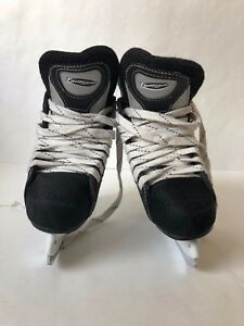Easton Typhoon Hockey Ice Skates 9Y Silver Black Blue