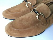Salvatore Ferragamo 'Celso' Honey Suede Tan Bit Driving Loafer 9 E $560 *