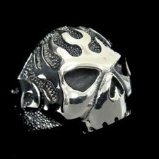 Fire Flame SKULL Iron Man Ring for Harley Hell Angel Biker 1% ER Avengers TR66