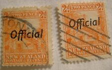 New Zealand Stamp 1936 Scott O64 A61  Official Overprint Set of 2