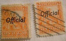 New Zealand Stamp 1936 Scott O64 A61  Official Overprint Set of 2