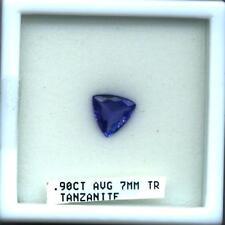 Tanzanite Trillion Cut .90 Carat Natural AAA  D Block Gem Quality