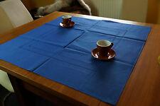 Halbleinen Tischdecke Jeansblau 90 x 90 Gastronomie Home  Deko Tischwäsche neu