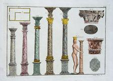 Arquitectura de mármol Toscana Corinto dorisch océanos griegos Sextus Pompeyo