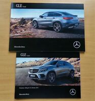 2168) Prospekt 2015 Mercedes GLE 450 350d AMG 63S Coupe + Preisliste brochure