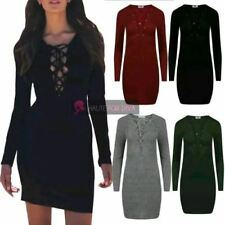 Lace Up Mini Casual Dresses for Women