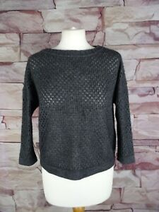 PENNYBLACK grey cropped knitted mesh jumper