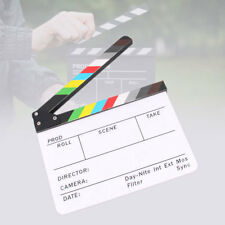 "Acrylic Clapboard Dry Erase Director Film Movie Clapper Board Slate 12"" x 9.8"""