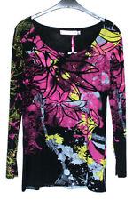 Damen-T-Shirts mit Rundhals-Ausschnitt aus Baumwollmischung Größe 42