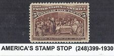 1893 US SC 234 Columbus Soliciting Aid of Isabella - MNH XF 90 w/ Certs