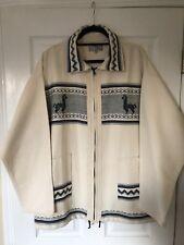 Artesania Landa Full Zip Jacket ~ 100% Wool ~ Large ~ Hand Made in Peru