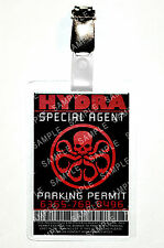 Agents of Shield ID Badge Hydra Agent Parking Cosplay Prop Costume Comic Con