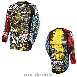 2021 O'Neal Element Kinder Jersey Wild Multi Trikot MX DH MTB BMX Motocross
