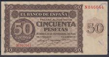 BILLETE ESPAÑA - 50 PESETAS BURGOS AÑO 1936 - SERIE N - EBC-