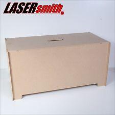 Caja de juguete de almacenamiento de información y el pecho de asiento, hecha de MDF 6mm fuerte, listo Para Decorar