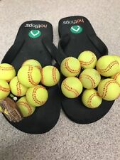 Hotflops Softball Flip Flop Sandals Small