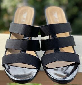 Rivers - Women's Shoes - 'Julia' Patent Black Wedge -  Size 40