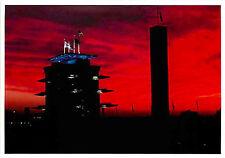 Postcard Indianapolis Motor Speedway New Pagoda in Setting Sun - circa 2001