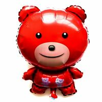 3x R44F13 XL Helium Folienballons Bärchen Figur Teddy Rot Geburtstag Geschenk