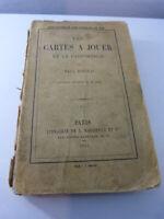 les cartes a jouer et la cartomancie,paul boiteau, illustré de 40 bois,1854(gc30