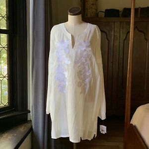 NATORI NWT Cebu Peasant Natural White Sleepshirt XL
