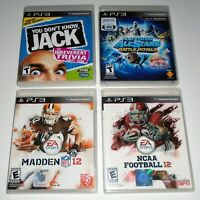 All-Stars Battle Royale + You Don't Know Jack + Football & More LOT OF 4  (PS3)