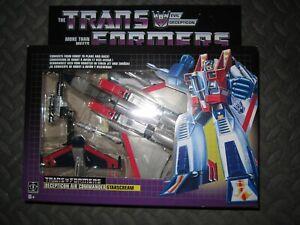 Hasbro Transformers G1 Starscream Walmart Exclusive Reissue w/ Megatron Gun New