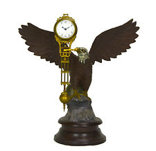 Large Brass American Eagle German Style 8 Day Swinger Movement Swinging Clock