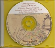 Culpeper County Virginia Genealogical & Hist.Notes