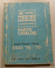 Parts Catalogue Book Manual – Chevy Chev Chevrolet Luv Isuzu Ute KB20 76-77