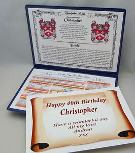 SPECIAL BIRTHDAY GIFT - YOUR NAME, IT'S MEANING,COAT OF ARMS, DAY YOU WERE BORN
